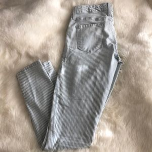 Anthropologie Level 99 brand striped denim